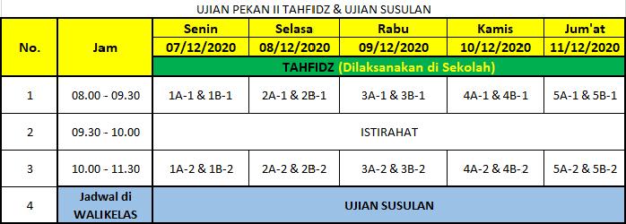 sekolah sunnah jadwal PAS2