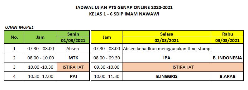 Jadwat PTS Genap 2021 SDIP Imam Nawawi