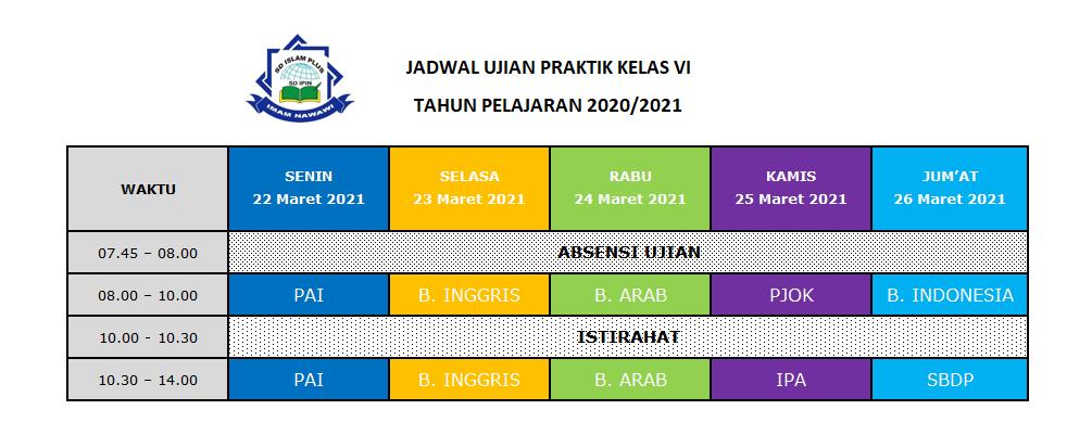 Jadwal US Praktik 2021